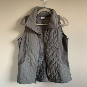 Columbia Grey Puffer Vest